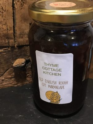 showing Old English Marmalade for salere